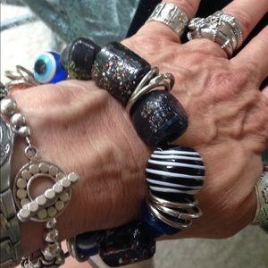 Funky large nugget bracelet